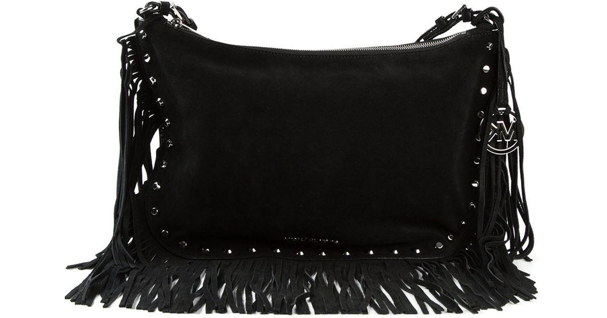 ... canada lyst michael michael kors medium billy fringe shoulder bag in  black 4d7e8 51811 7ac73e4d86219