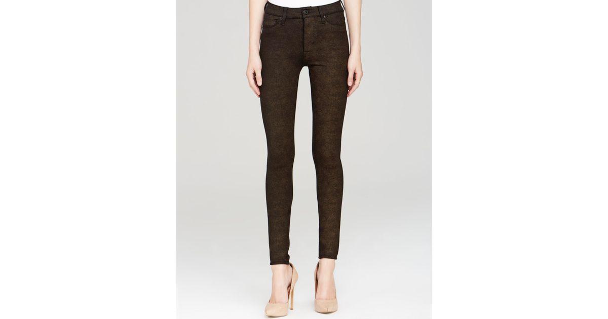 1cf5119d299 Hudson Jeans Jeans - Barbara High Rise Super Skinny in Brown - Lyst