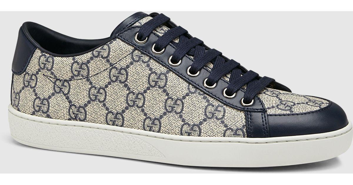 38982d9c6ca Lyst - Gucci Brooklyn Gg Supreme Canvas Sneaker in Gray
