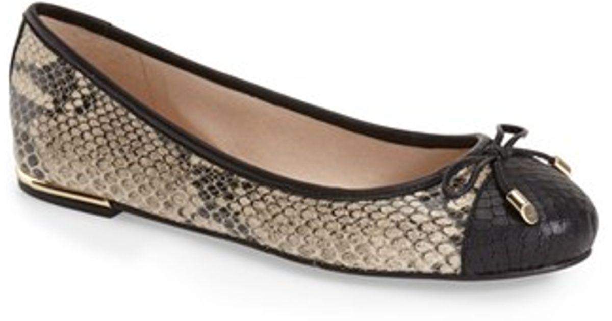 Vince Camuto Black Snakeskin Shoes