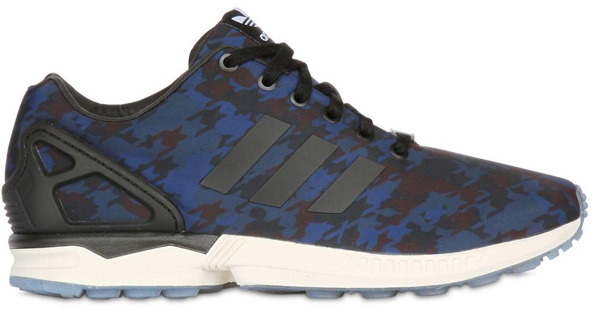 Adidas Originals Zx Flux Camo 2.0 Sneakers in Blue for Men - Lyst 6020a6f03