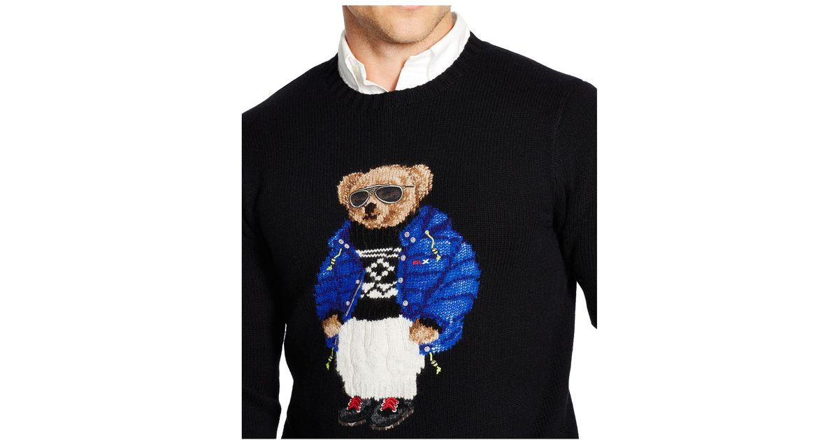 c4ba65f18 Lyst - Polo Ralph Lauren Polo Bear Wool-blend Sweater in Black for Men