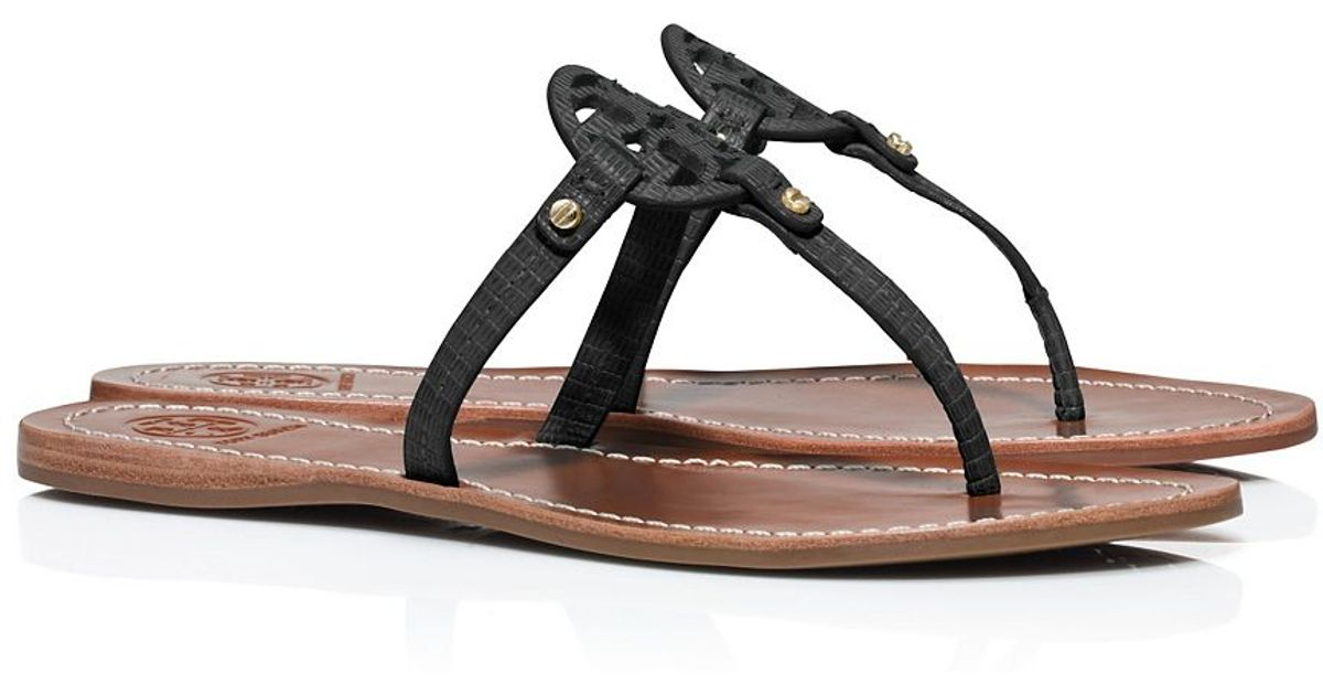 f1389fe08e8bc Lyst - Tory Burch Mini Miller Flat Thong Sandal in Black