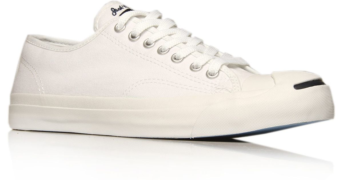 Lyst - Converse Cream Jack Purcell Leather Trainers in Natural for Men 82b499c3b3