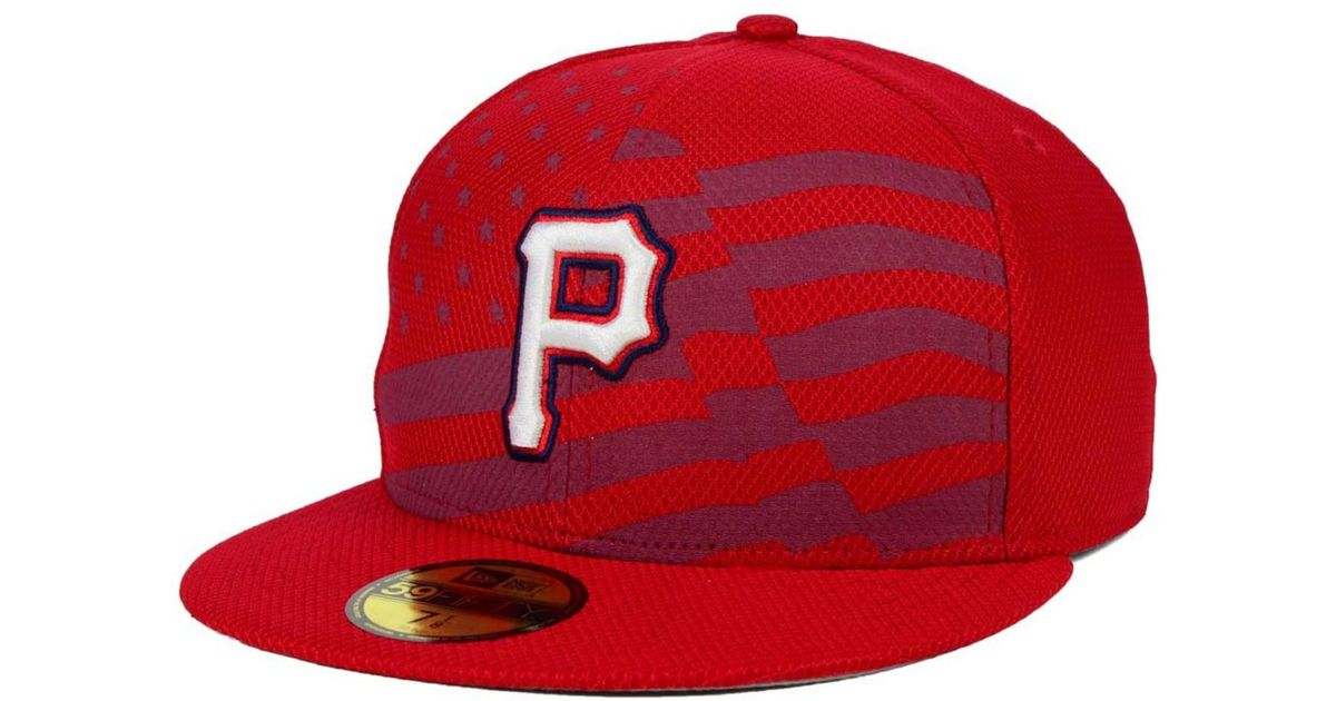 info for 5785d e980d Lyst - Ktz Pittsburgh Pirates July 4th Stars   Stripes 59fifty Cap in Red  for Men