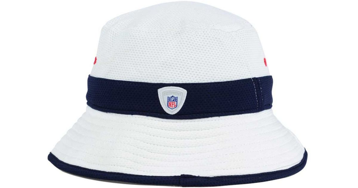 bb99a0a4a KTZ Houston Texans Training Camp Official Bucket Hat in White for Men - Lyst