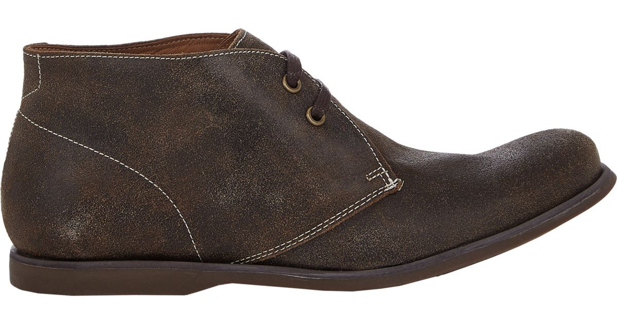 John varvatos Men's Star Classic Chukka Boots in Brown for Men | Lyst
