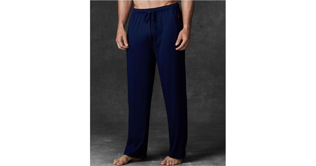polo ralph lauren mens supreme comfort knit pajama pants