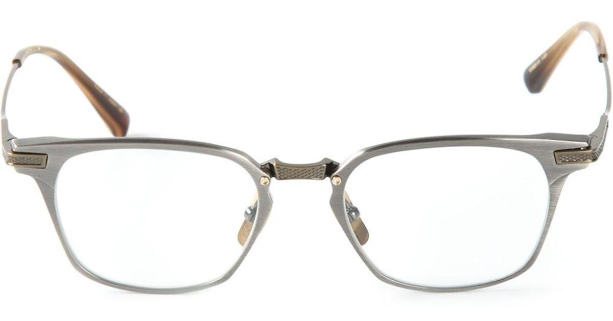 2b67cc593ea Lyst - Dita Eyewear  Union  Glasses in Metallic