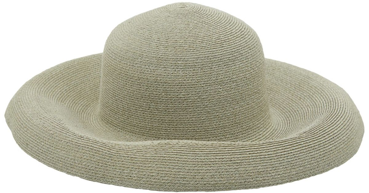 Lyst - Grevi Large Green Woven Floppy Sun Hat in Green 3818ef6c4f6