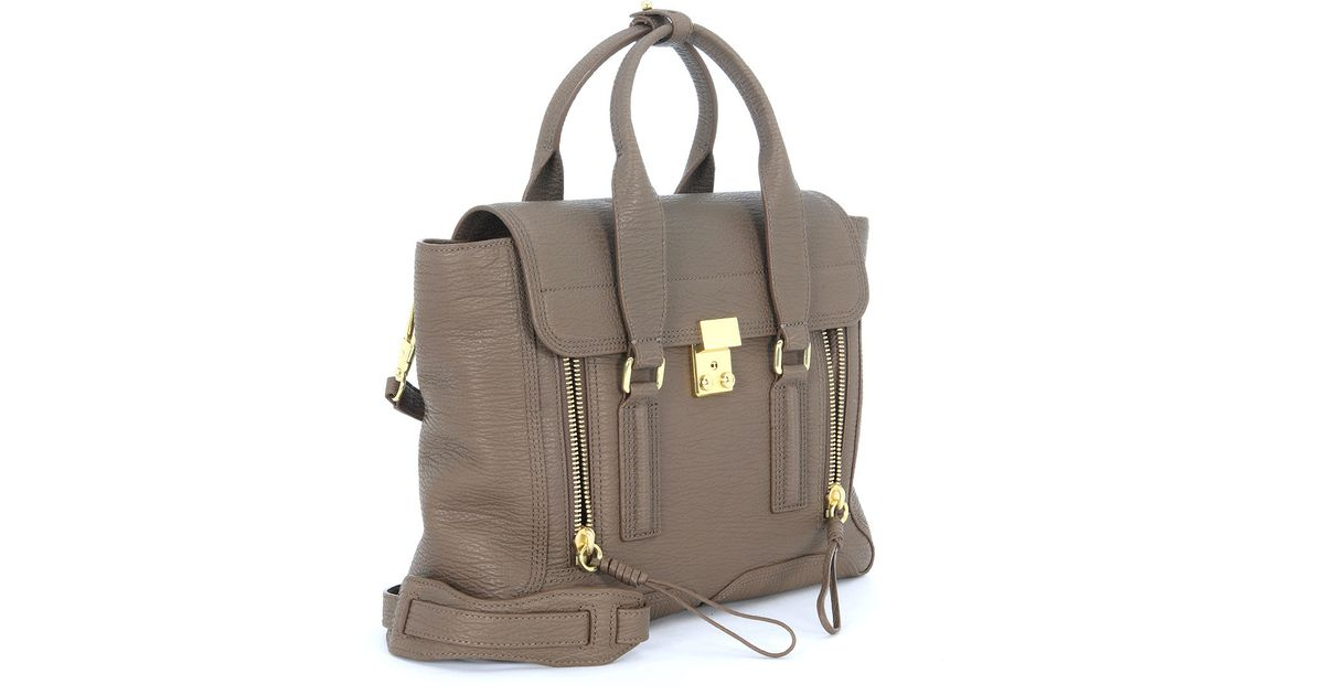 3.1 phillip lim Borsa A Mano Pashli Medium Satchel In Pelle Taupe ...