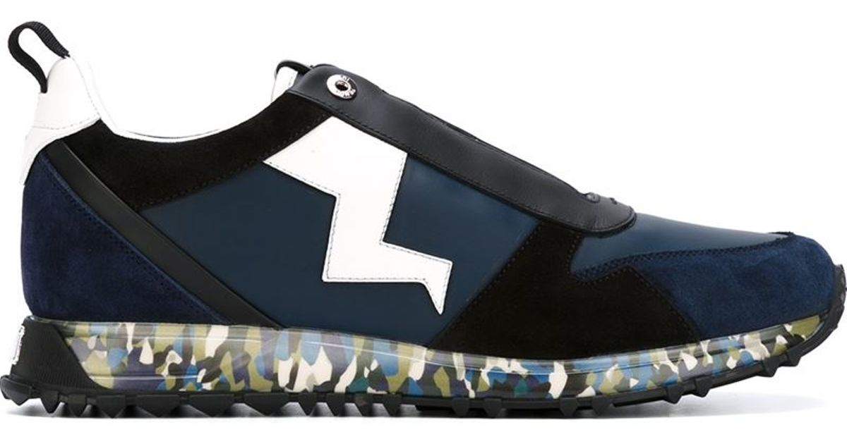 Fendi Chaussures De Sport De © - Appliqués Bleu DOc17VxWh