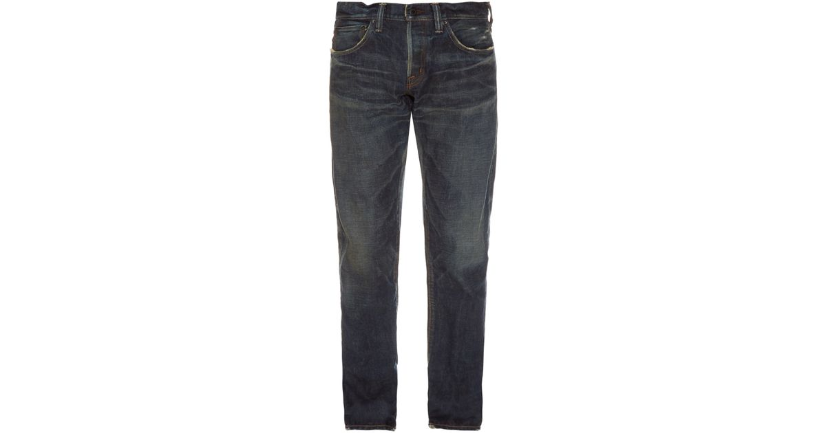 ea49a2c2 Mastercraft Union Relaxed Taper Vintage-wash Jeans in Blue for Men - Lyst
