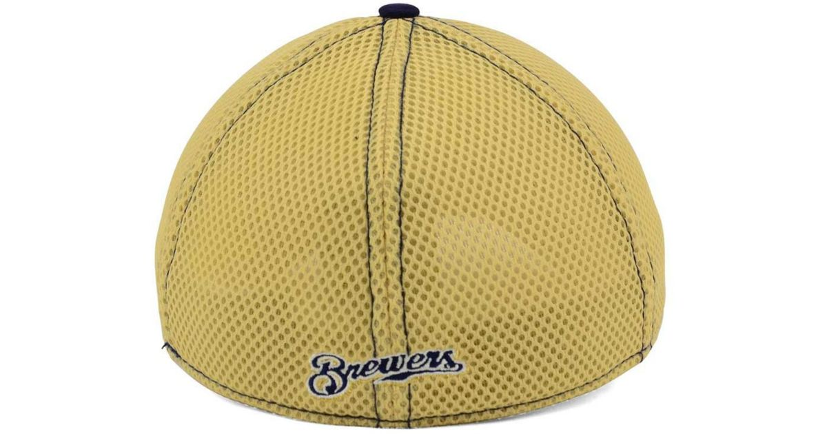 new products 4c151 48583 Lyst - KTZ Milwaukee Brewers Heathered Neo 39thirty Cap in Gray for Men