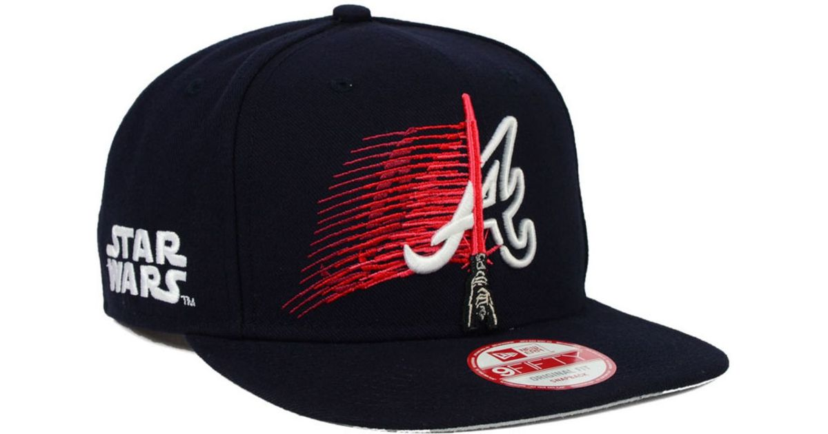 more photos 67121 3cdf7 KTZ Atlanta Braves Star Wars Logoswipe 9fifty Snapback Cap in Blue for Men  - Lyst