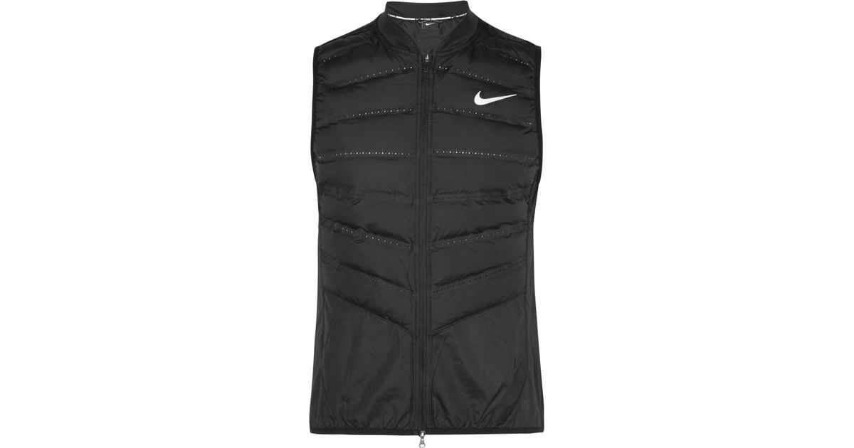 65ec63aad73c Nike Aeroloft 800 Quilted Shell Down Gilet in Black for Men - Lyst