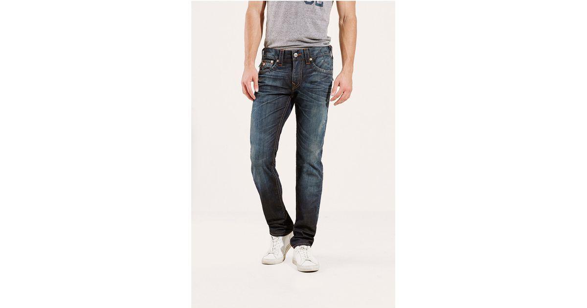 true religion hand picked skinny mens jean in blue for men camshaft lyst. Black Bedroom Furniture Sets. Home Design Ideas