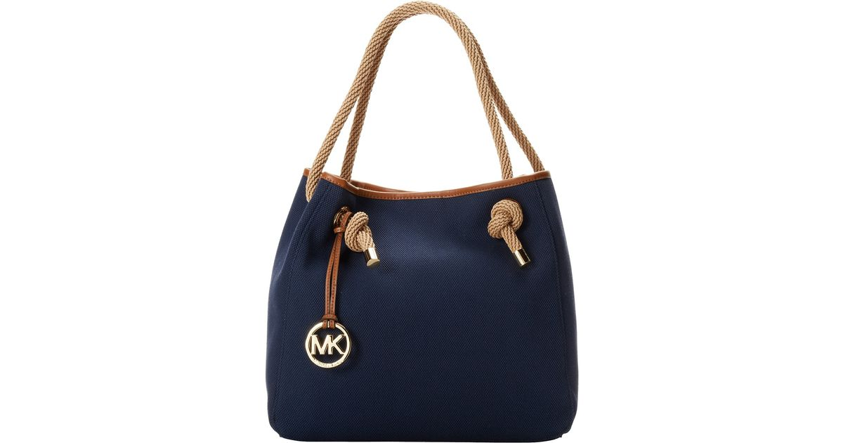 2169f3473152 ... where to buy lyst michael michael kors marina large grab bag in blue  9c0ef 3a5f2