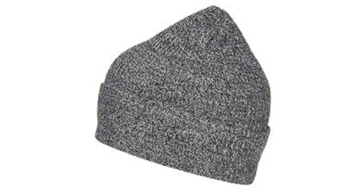 991f524e6db Topshop Lightweight Knit Beanie Hat in Gray - Lyst