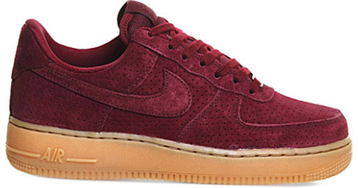 0fcd6783d95c Nike Air Force One Trainers in Red - Lyst