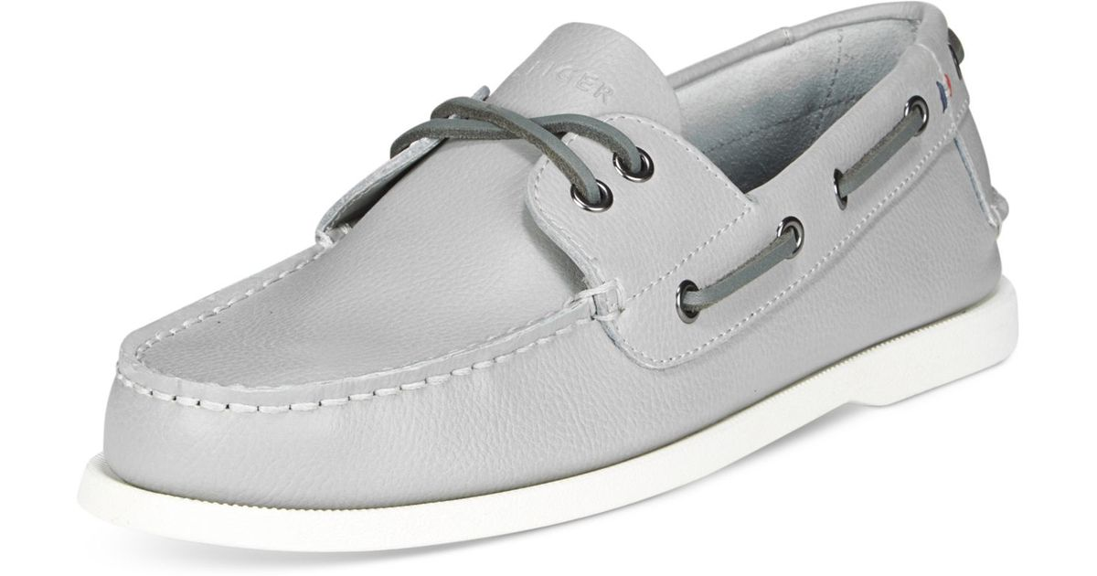 dbcafc5fb Lyst - Tommy Hilfiger Men s Bowman Boat Shoes in Gray for Men