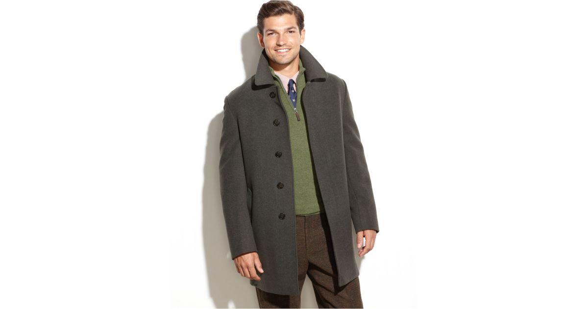 4e186f053958 Lyst - Lauren by Ralph Lauren Jake Solid Wool-Blend Overcoat in Green for  Men