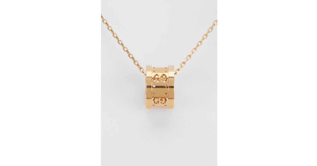 Lyst gucci womens icon twirl 18k yellow gold pendant necklace in lyst gucci womens icon twirl 18k yellow gold pendant necklace in metallic aloadofball Gallery