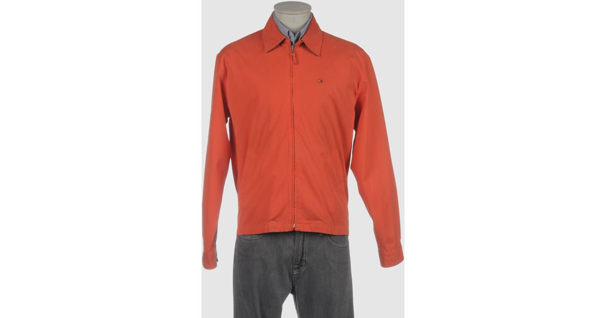 tommy hilfiger jacket in orange for men save 27 lyst. Black Bedroom Furniture Sets. Home Design Ideas