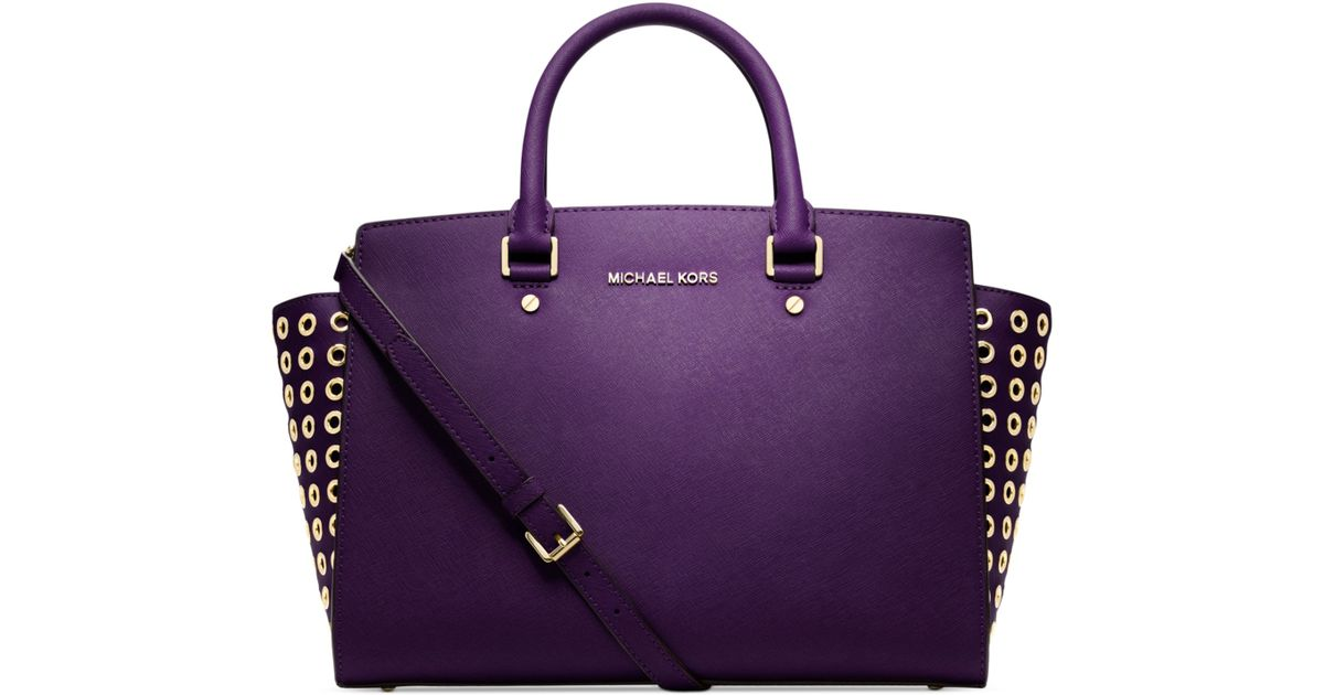 5257623fd89e Purple Michael Kors Purse For Sale. purple Leather MICHAEL MICHAEL KORS  Handbag - Vestiaire Collective Michael Michael Kors Jet Set ...