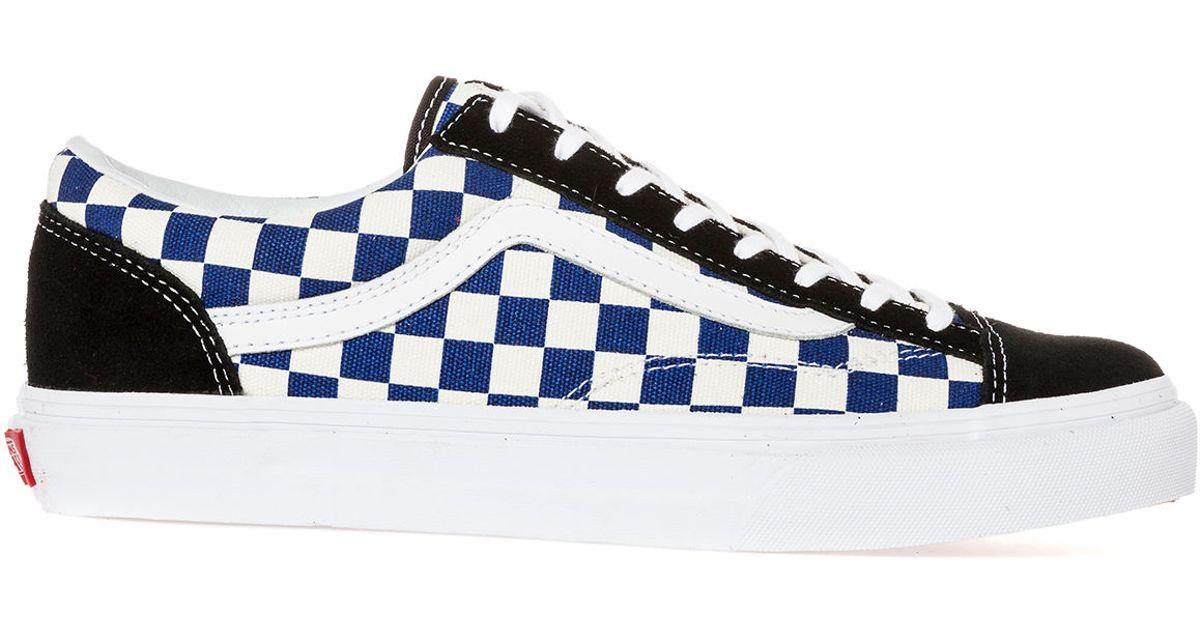 1613627ab8 Lyst - Vans The Style 36 Golden Coast True Blue Checker in Blue for Men
