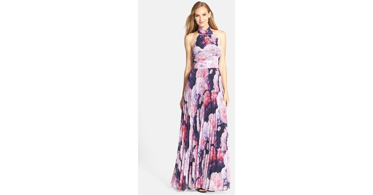 Eliza j pink chiffon maxi dress