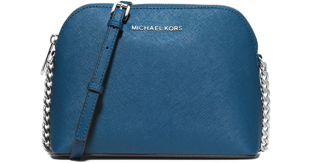 d510ce9b0bb3 wholesale lyst michael michael kors cindy large dome saffiano crossbody bag  in blue ee054 14f36