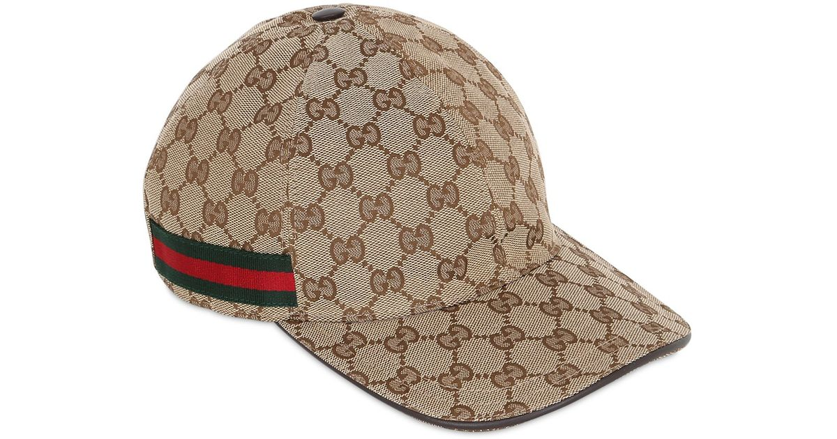 3b2aaf15a8735 Gucci Web   Gg Jacquard Baseball Hat in Natural for Men - Lyst