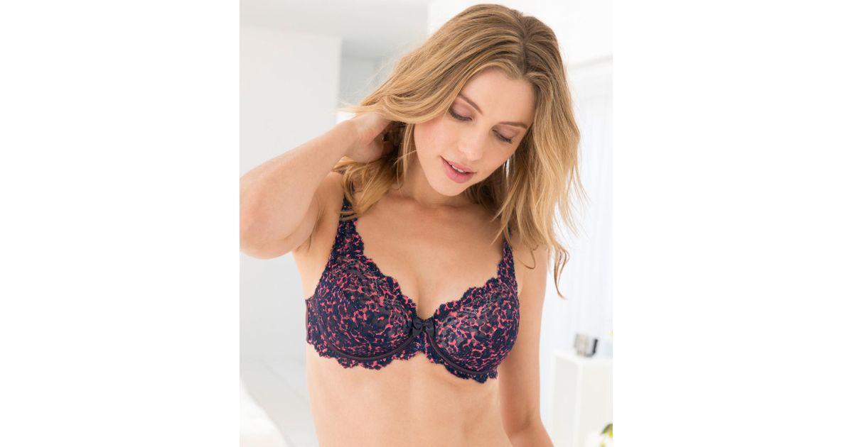 a10ca95a6ea34 DAMART Playtex Flower Elegance Lace Bra in Purple - Lyst