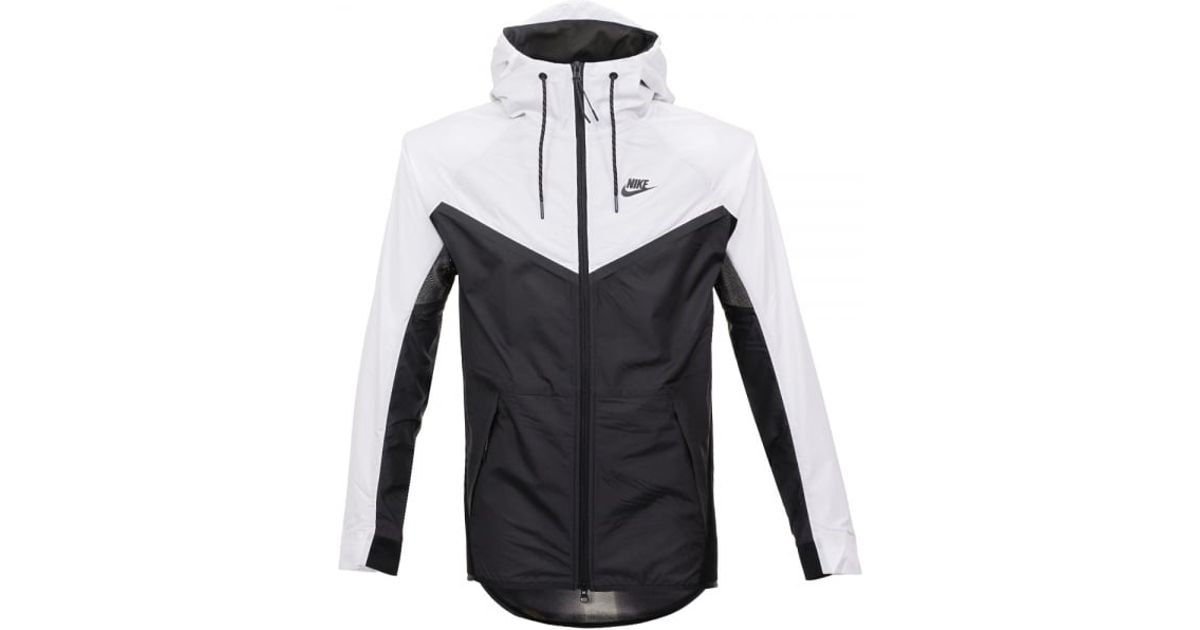 83b2bddc31ef Lyst - Nike Tech Hypermesh Windrunner Black White Jacket 826068011 in Black  for Men