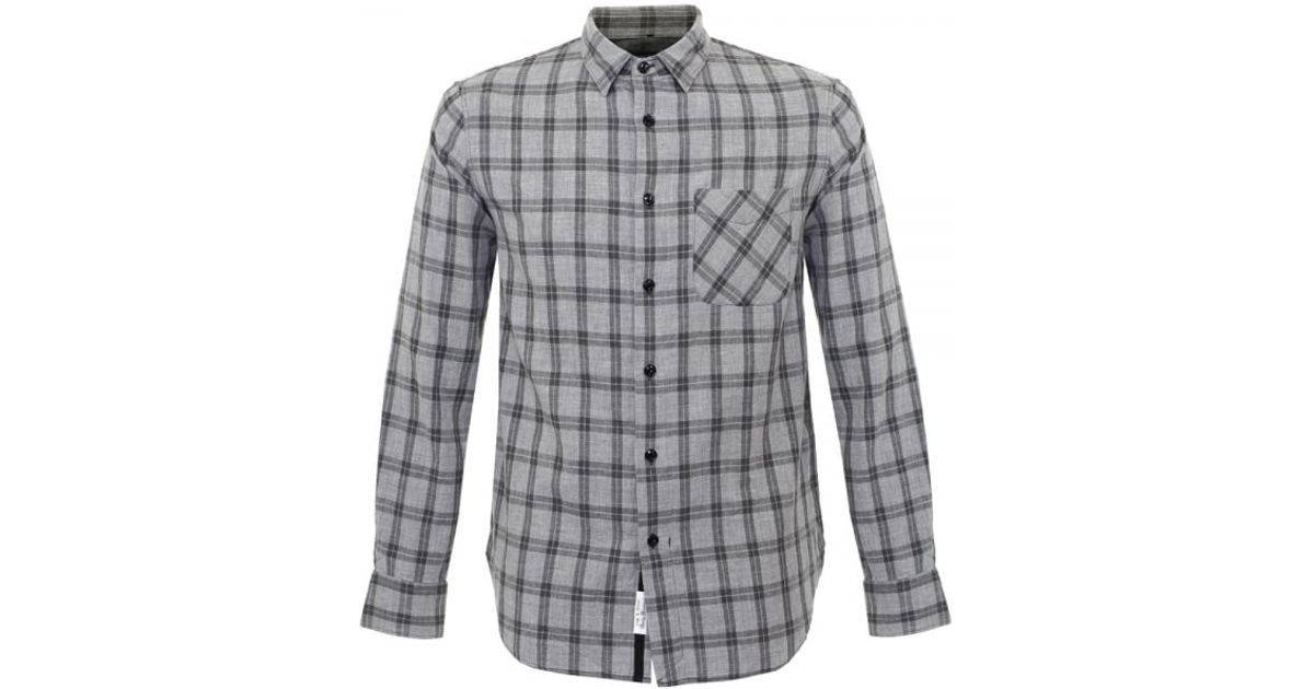 Rag bone rag and bone grey check beach shirt m265a125x for Rag and bone mens shirts sale