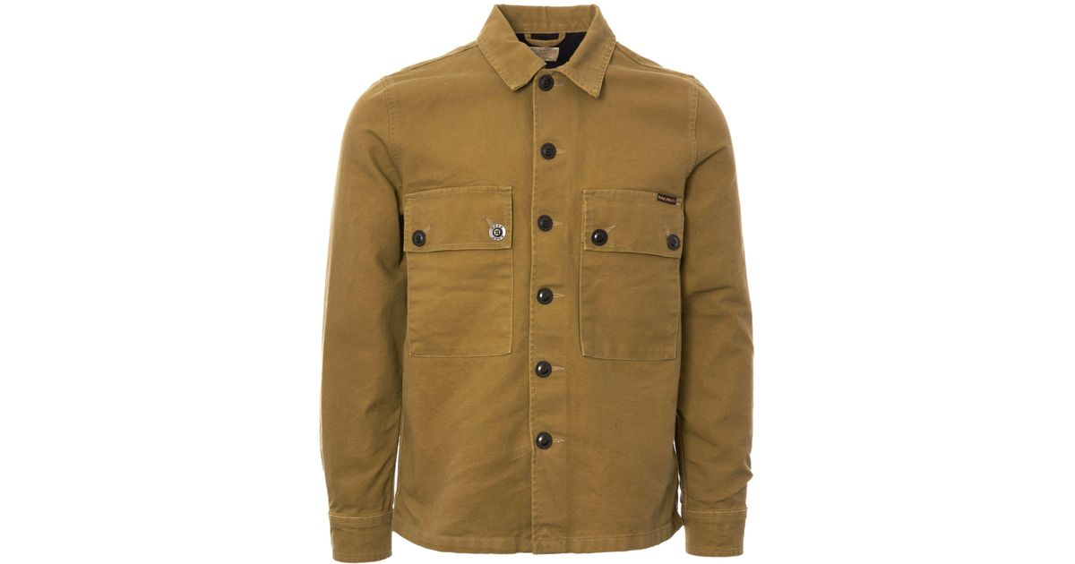 a4981419 Nudie Jeans Sten Swedish Army Shirt - Army Yellow in Green for Men - Lyst