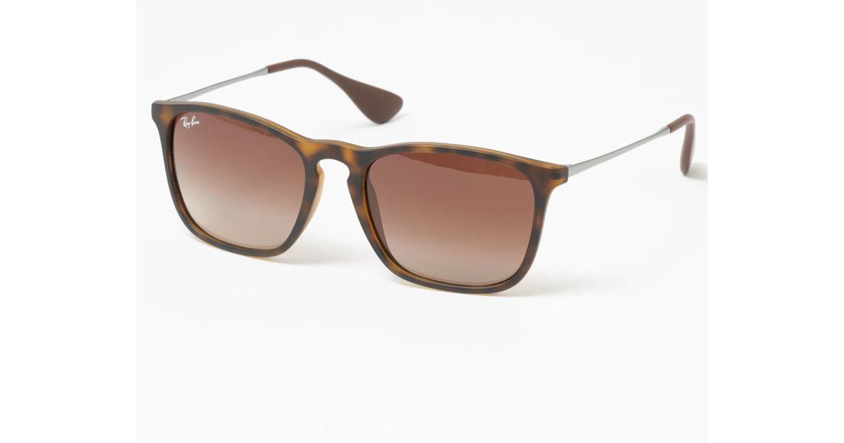 efe486d0f7 Ray-Ban Chris Tortoise Sunglasses 0Rb4187-856 13 - Lyst