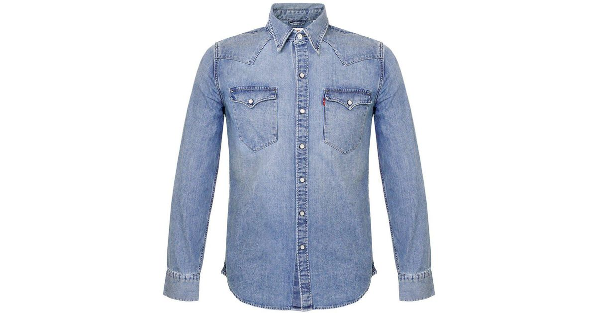 802c8ab18b0 Levi s Levi S Barstow Stone Wash Denim Shirt 65816-0116 in Blue for Men -  Lyst