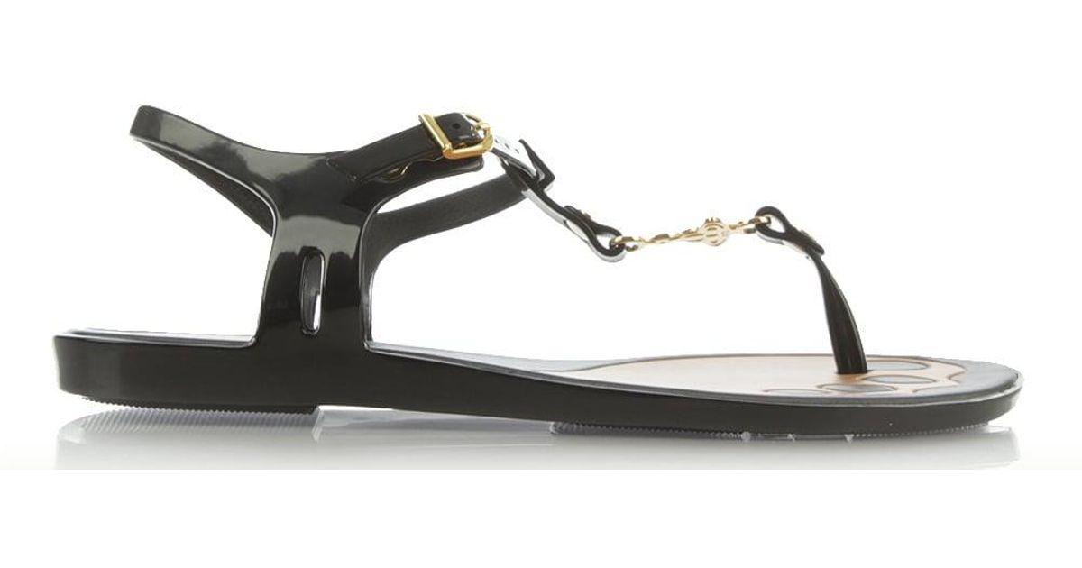 e13a01665e1c6a Vivienne Westwood Solar Orb Black Toe Post Sandal in Black - Lyst