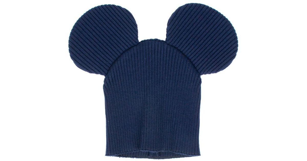 62b7d32793d Lyst - Comme des Garçons  mickey Mouse  Hat in Blue