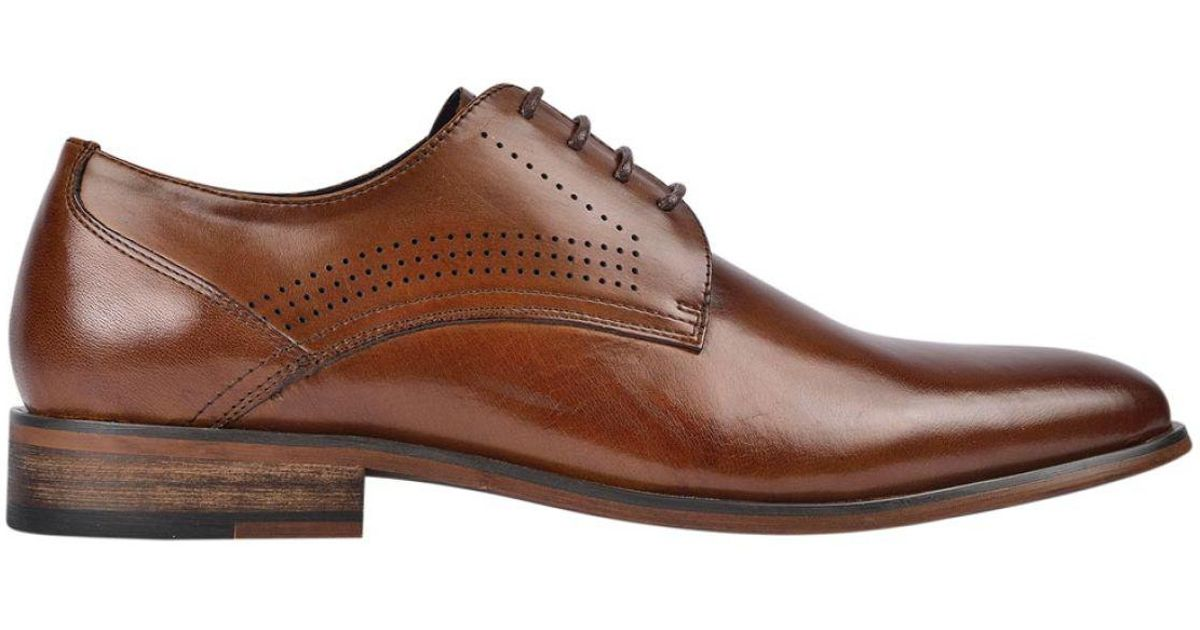 7ed3769a3b2c5 David Jones Leather Derby Shoes in Brown for Men - Lyst