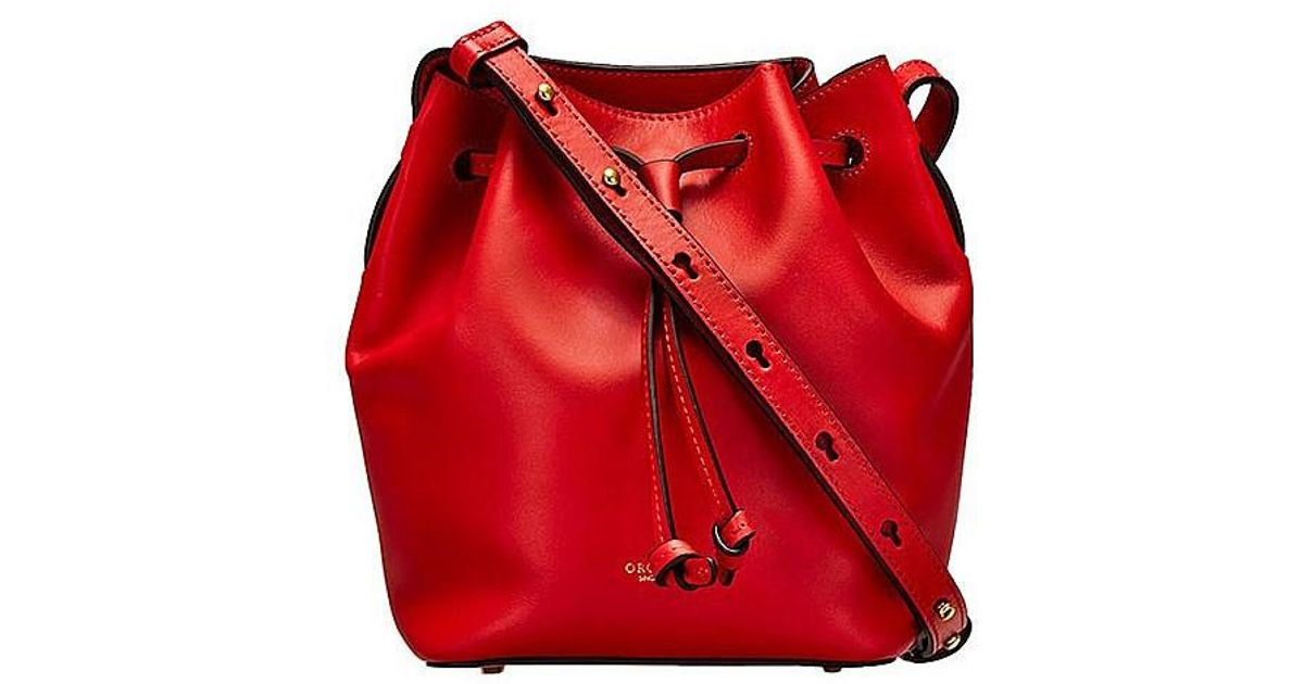 ca7f5d1c49cd Oroton Escape Mini Bucket Bag in Red - Lyst