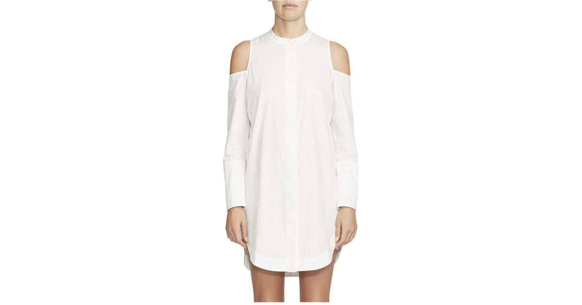 8bb1249e1f1 Camilla   Marc Broome Cut Out Shirtdress in White - Lyst