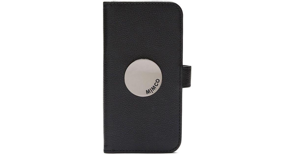 premium selection a98c5 e3b4d Mimco - Black Waver Flip Case For Iphone X - Lyst
