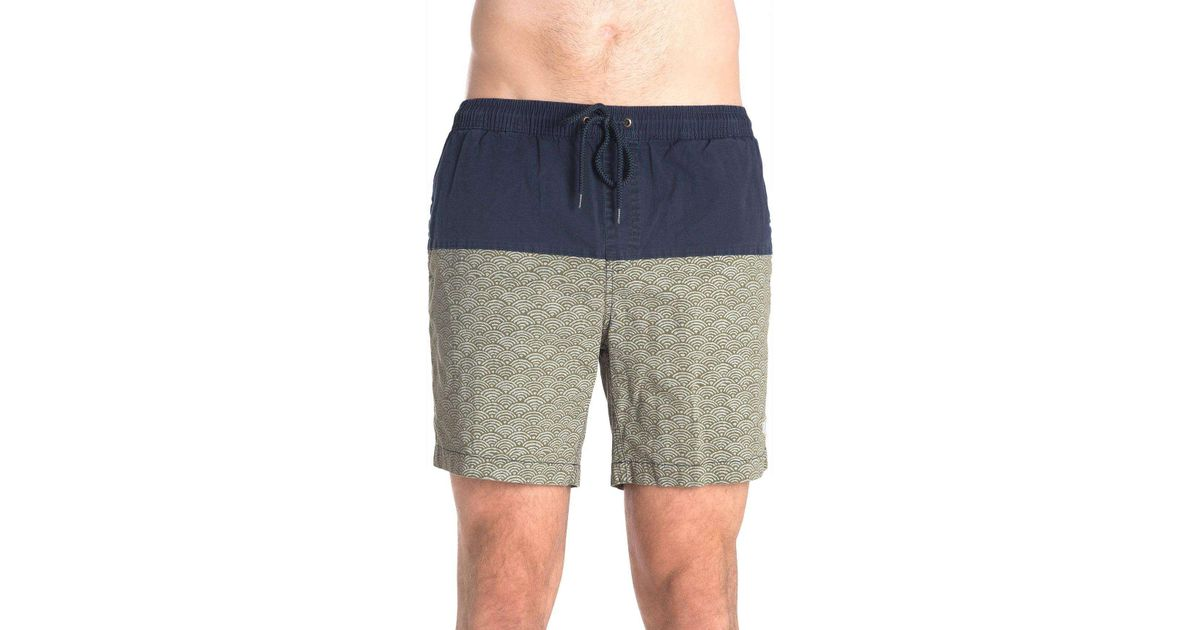 a6936e6f2c Deus Ex Machina Sandbar Nihon Wave Colourblocked Short in Blue for Men -  Lyst