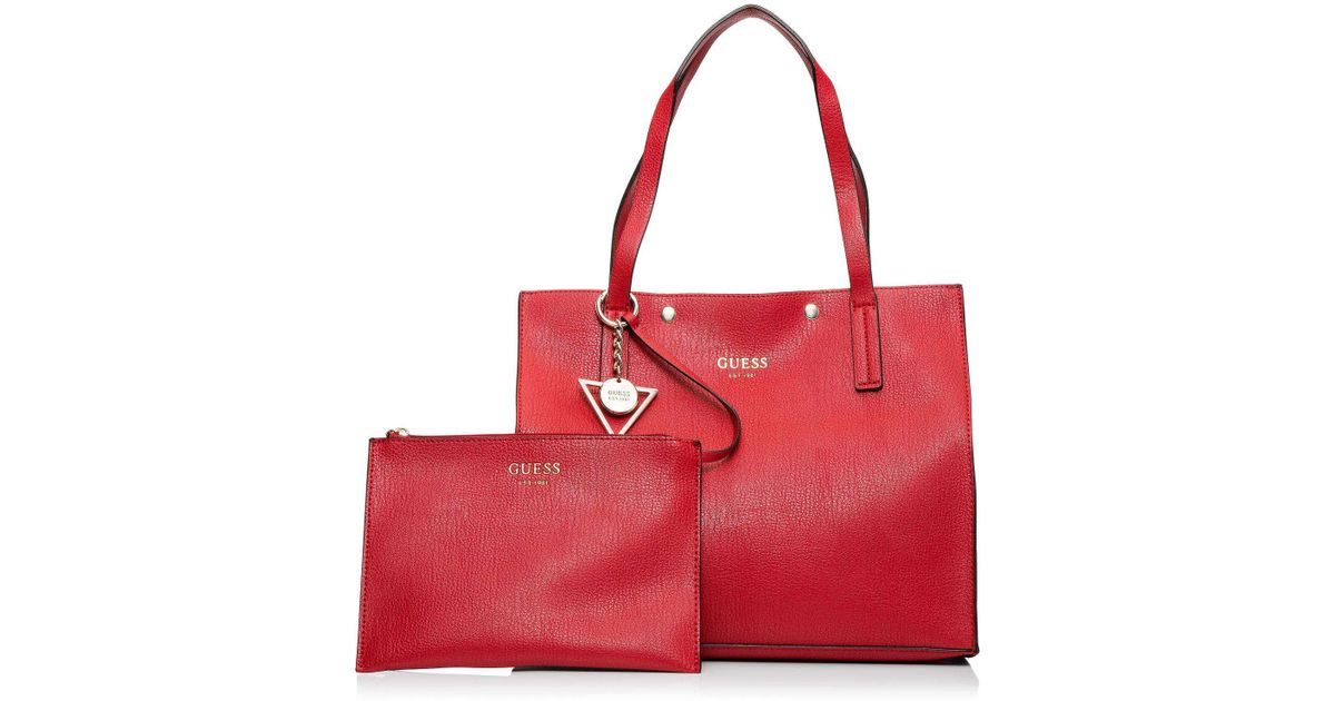 7c497857cbde Guess Kinley Carry All in Red - Lyst