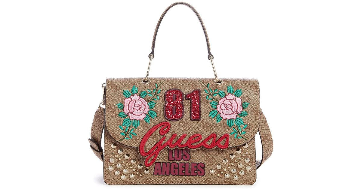 9cda41e9e4de Guess In Love Top Handle Bag - Lyst