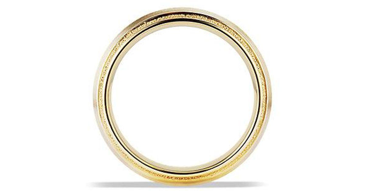 ee71659d0236b1 David Yurman Knife Edge Band Ring In 18k Gold, 8mm in Metallic for Men -  Lyst