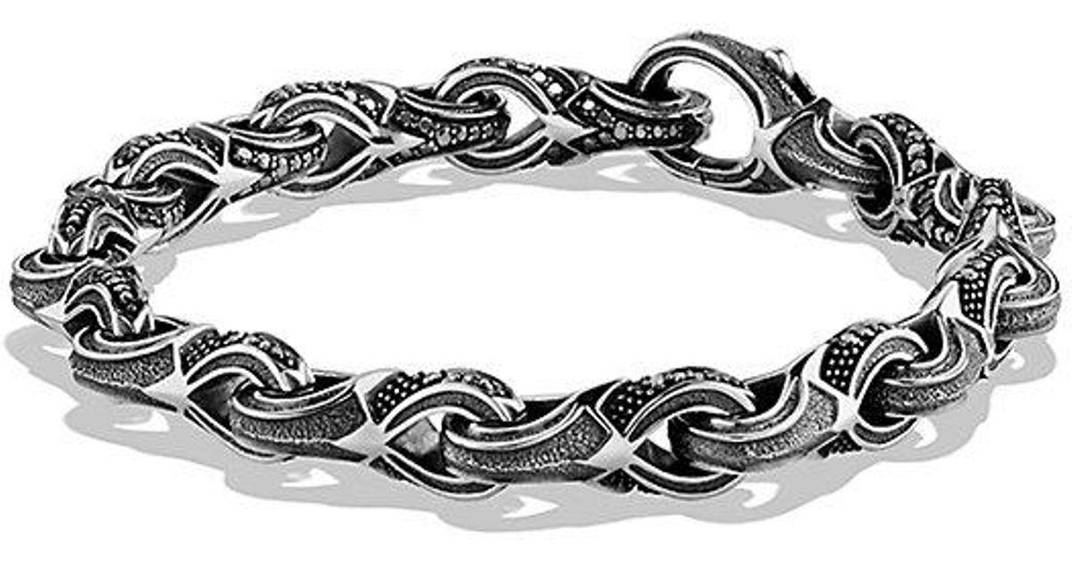 Lyst David Yurman Armory Figure Eight Link Bracelet With Black